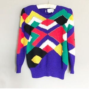 Vintage sweater colorful